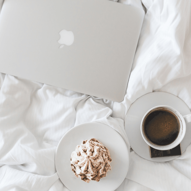 homeschooler's coffee in bed planning college